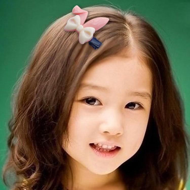 韩国儿童发饰糖果色小兔耳朵发夹小女孩宝宝发卡头饰品发绳发圈图片
