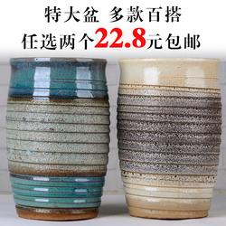 特价宜兴紫砂花盆老桩多肉盆景法师盆栽透气粗陶陶瓷大号盆
