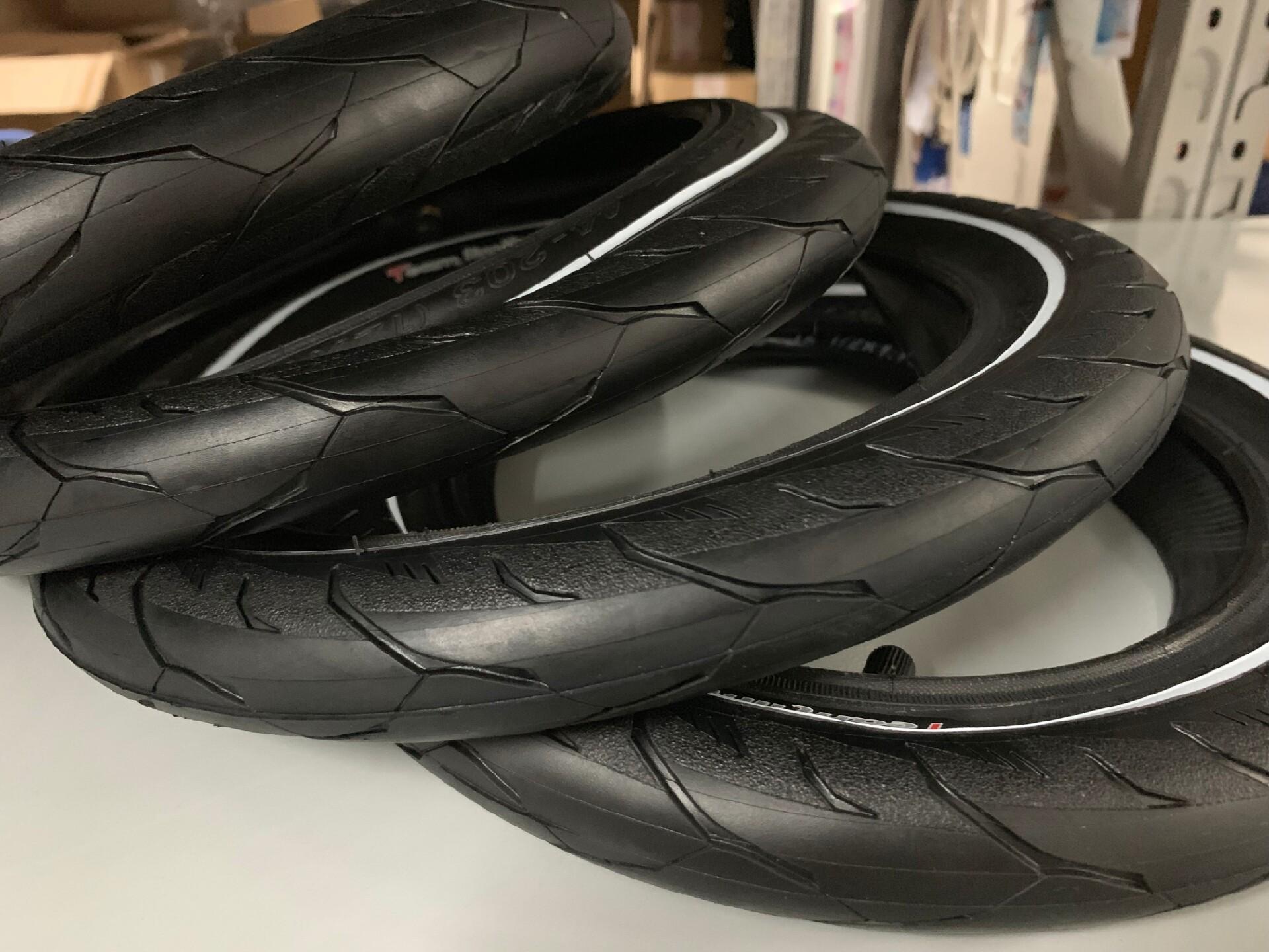 正新白边胎车队胎12寸儿童平衡车改装轮胎