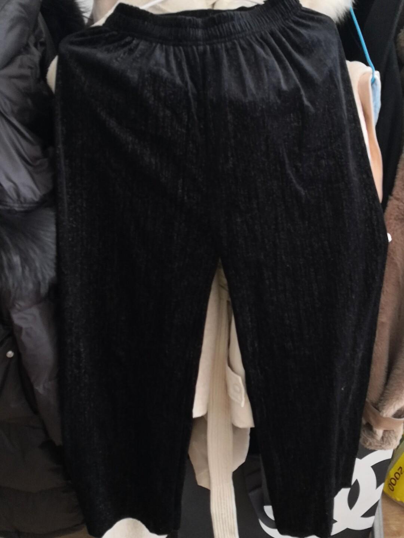 女式黑色直筒裤,阔腿裤,均码,春秋可穿,买了一次没穿过,忘了