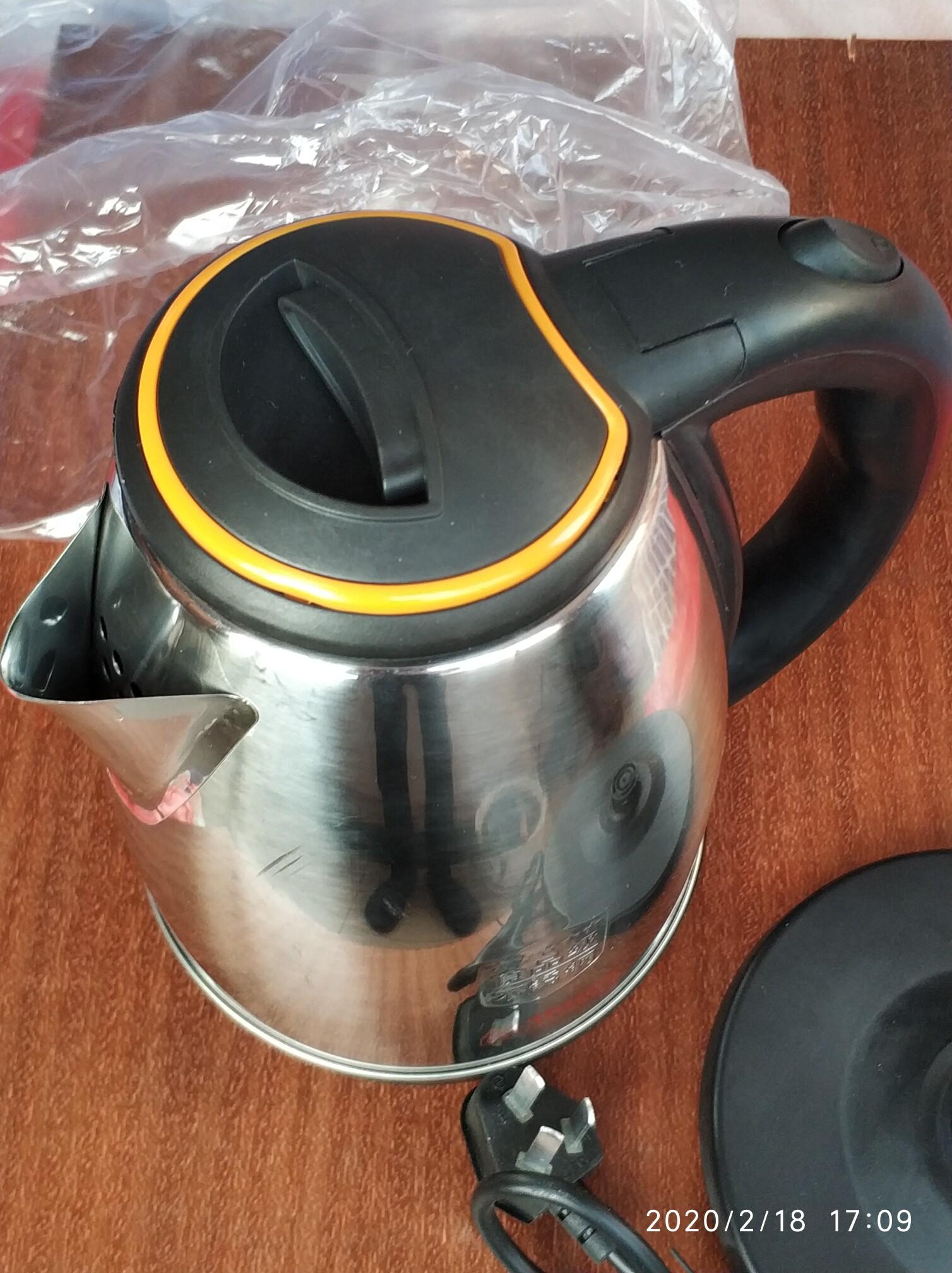 热水壶,材质:食品级不锈钢,功率:1500w,容量:2L,全