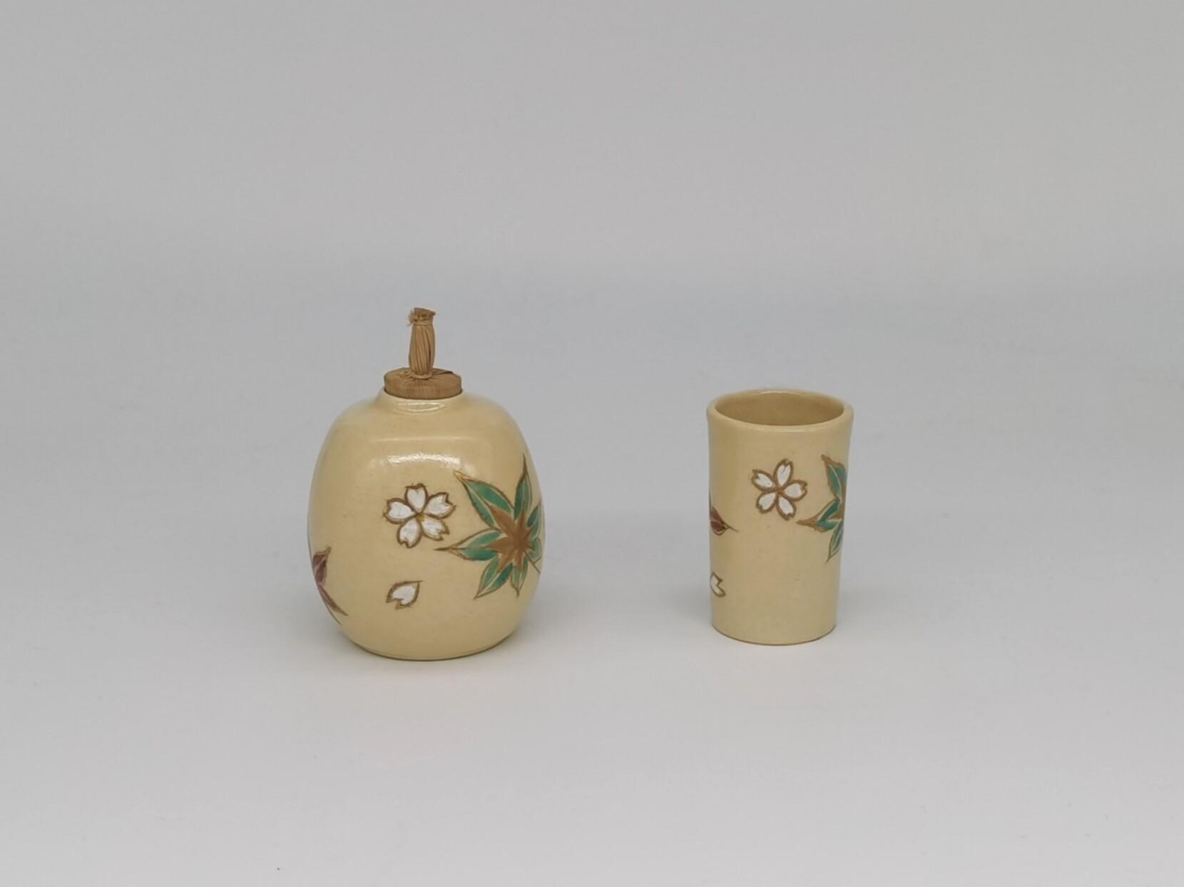日本回流 京烧 清水烧 茶道具 振出 巾筒 茶箱用