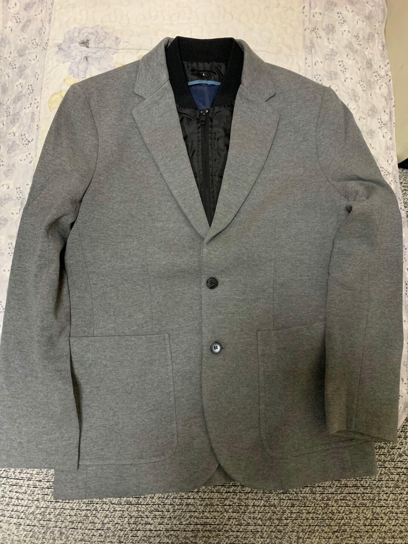 全新 品牌型号 SELECTED 思莱德假两件棒球领修身衣服
