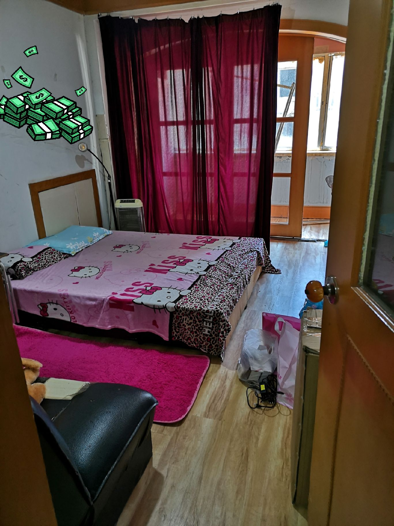 天洪街万达对面三室一厅二楼精装126平方单间500低价出租