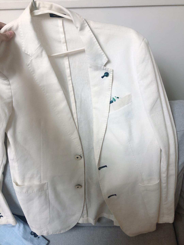 男士白西装