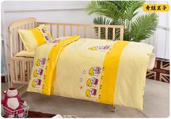 韩国定做幼儿园被褥三件套件套儿童午睡宝宝床品不含芯纯棉被子秋