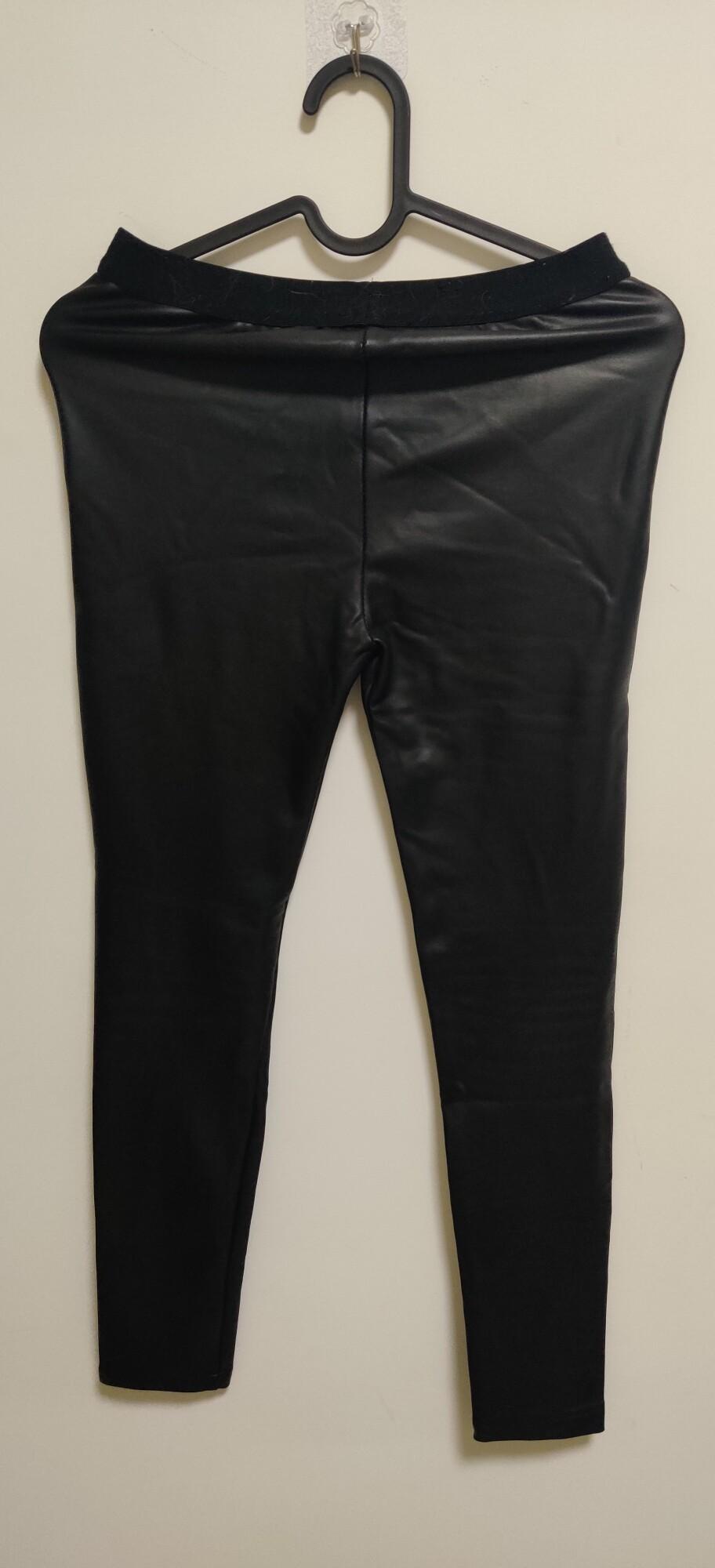 皮裤 有要的吗 100斤内可穿  修身有弹力,冬天还保暖!!