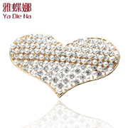 Ya na rhinestone Barrettes Crystal hairpin Korean fashion Pearl top clamp Q0214