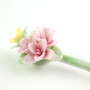 Jingdezhen ceramic pink lilies hand Kung Fu Bob classic hairpin ethnic performances items