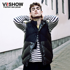 Viishow2015 spring men's vest vests simple City boy on the street in Europe and America stand down vest jacket