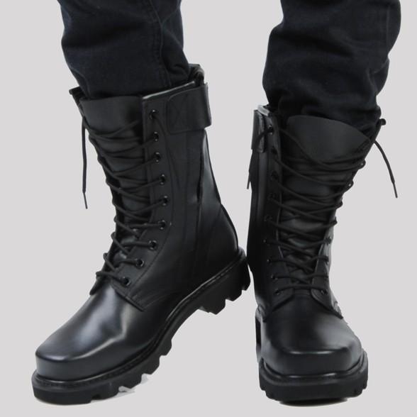 正品牛皮軍靴 男特種兵作戰靴 鋼頭鋼底馬丁靴 男士真皮靴子男
