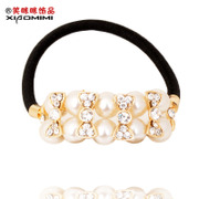 Package mail smiling new Korean version of Pearl rope end button band Korea hair hair hair hair accessory jewelry
