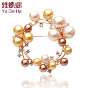 Ya na genuine fashion Pearl Korea Korean rhinestones brooch corsage popular Korean shawl pin buckles xzx073