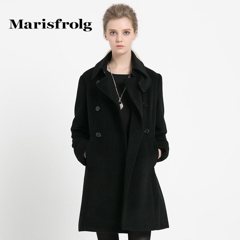 Marisfrolg玛丝菲尔 六粒扣大衣羊毛气质 专柜正品秋冬女装新