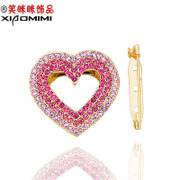 Package mail smiling scarf buckle female Korean Crystal rhinestones brooch corsage pin clasp Korea jewelry