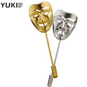 YUKI pin male personality masks Korea fashion suit as needle suit women sweater pins lovers accessories