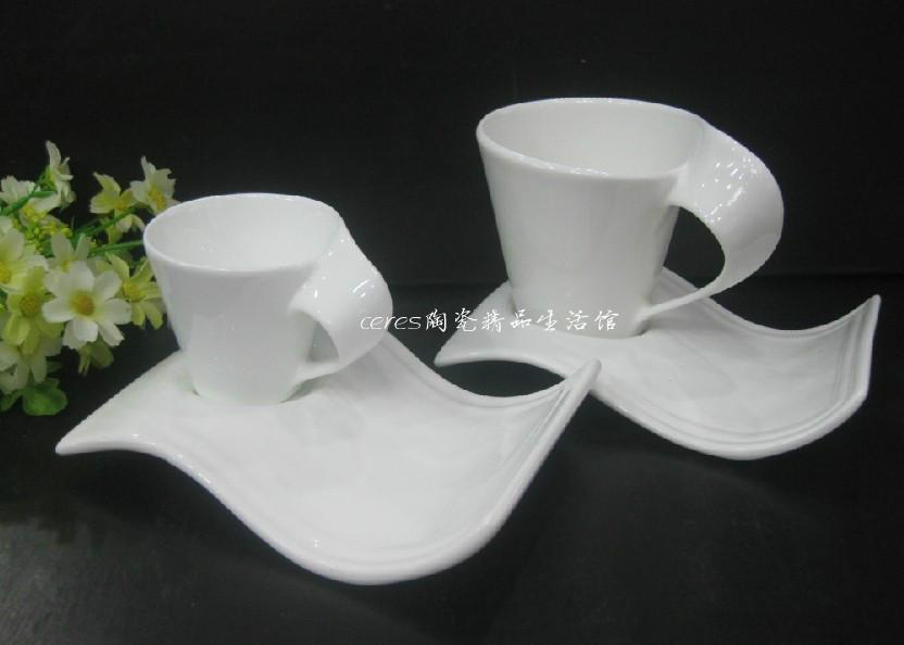 欧式陶瓷咖啡杯碟送勺纯白高档餐厅花茶杯浓缩创意下午茶奶茶杯子