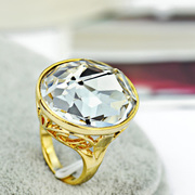 Mu-Mu-synthesis of Crystal fashion jewelry Korean female exaggeration of the ring finger shining star ring jewelry