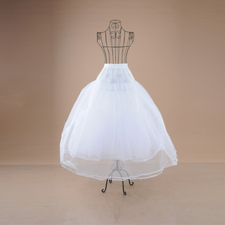 Honey made boneless Pannier Pannier yarn fold skirt wedding dress--4-
