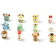 DIY handmade ceramic cartoon version of loose beads 12 Zodiac Jewelry Accessories Accessories beading materials
