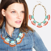 Package email K082 good vintage Bohemian fashion jewelry in Europe and America between short-selling tide girls necklace