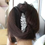 H036 fine jewelry Korea hair jewelry Korean rhinestone Hair Combs popular plug comb hair fork