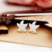 Good jewelry Korea delicate ladies and studs full rhinestone Starfish Stud Earrings D207