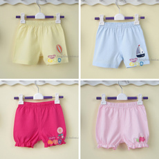 婴儿短裤夏季纯棉可开裆0-1岁男女宝宝裤子婴幼儿短裤童装薄2