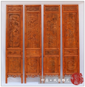 Screen partition folding screen living room room hallway bedroom porch Chinese retro solid wood folding mobile residential furniture