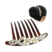Pack mail fashion accessories fashion Korean faux Pearl Butterfly bridal tiara hair clip comb hair ornament original