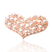 Ya-na/genuine love Peach Flower pins collar rhinestone Pearl brooch 094