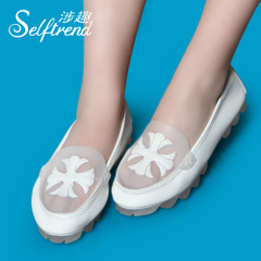 Interest in question fall 14 new light sweet flat round head fashion casual and comfortable women's shoes at the end of the cake T01666