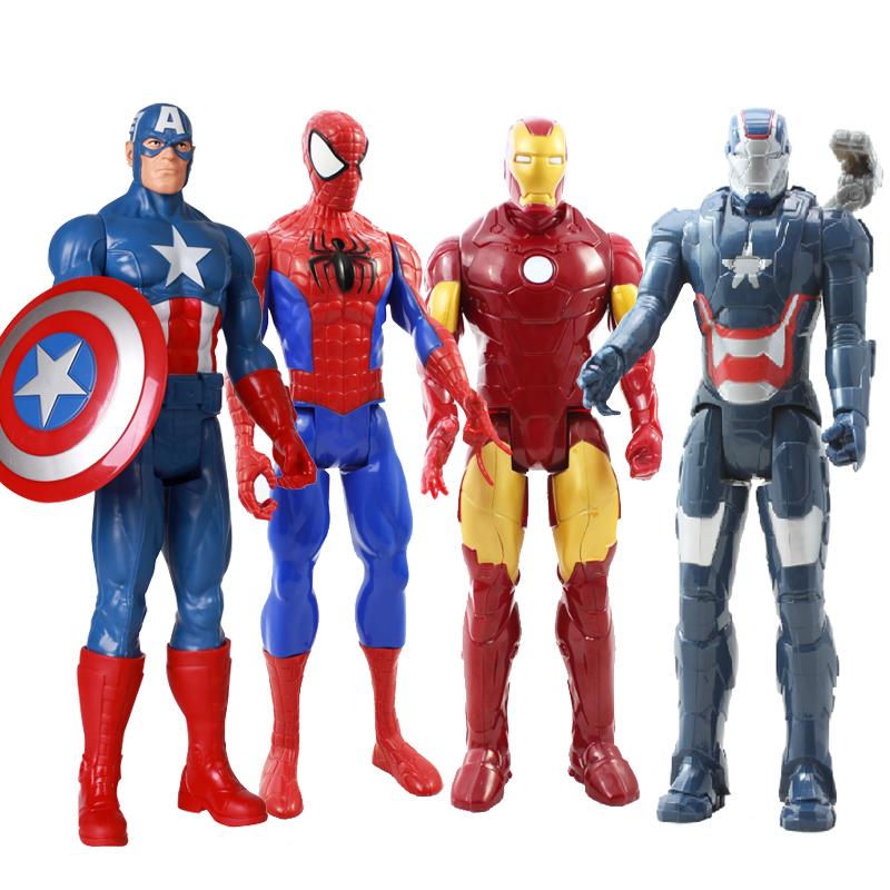 过影复仇者联盟蜘蛛侠 钢铁侠模型 美国队长金钢狼 可动人偶28CM