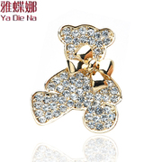 Ya na rhinestone bow brooch pin brooch fashion cute bear brooch A0002