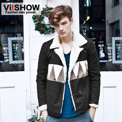 Men's viishow men's winter coat new mosaic color warm cotton clothing men's clothing men's cotton clothing