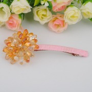 Hand-beaded Crystal Sun sunflower DIY jewelry kits Korea imported hairpin hair accessories durable