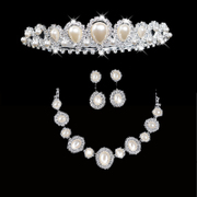 Honey Crown bridal Crown wedding marriage Crown necklace set necklaces necklaces-1-