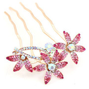 Good Korean rhinestones jewelry plug blossom comb comb insert hairpin hair sticks hair Korea hair accessories H067
