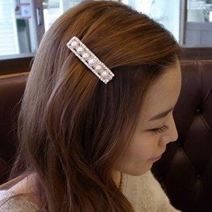 C063 good jewelry Korea hair accessories hairpin sweet wild diamond clip spring clip