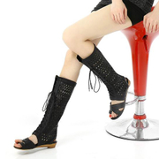 Shapin Roman woman sandal shoes-toe fashion at the end of openwork lace wedges 40 high cool boots size Martin boots