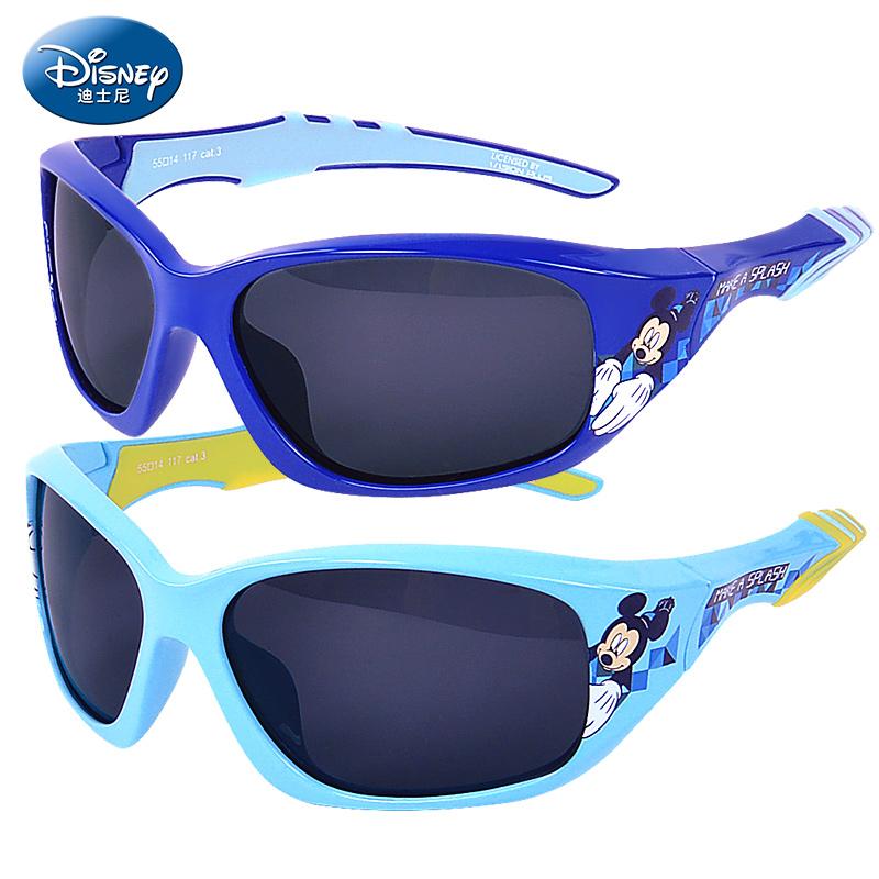 迪士尼儿童太阳镜男童偏光 学生防紫外线蛤蟆镜男孩墨镜宝宝眼镜