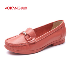 Aokang shoes spring 2016 new asakuchi rhinestone fashion comfortable shoes with low heels shoes genuine mail
