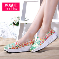 MI Ka Korean designer shoes low cut shoes canvas shake shoe breathable canvas leisure shoes foot tide shoes
