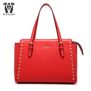 Wanlima/million 2015 new style handbag trends for fall/winter Lady baodan shoulder bag rivets large shoulder bag