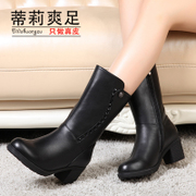 Tilly in 2015 winter cool foot Ms new sleeve with pointy boots and cotton in boots boots women's shoes