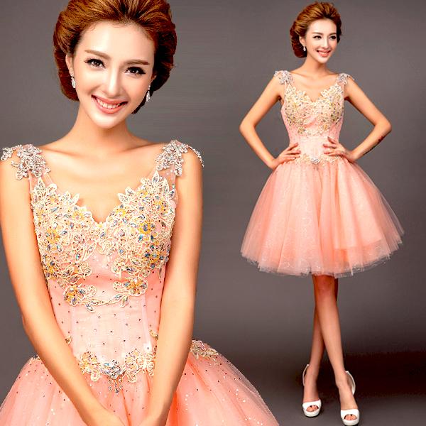Свадебные розовые платья короткие