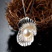 Is 925 Silver Pearl pendants Thai female Japanese and Korean elegant Silver jewelry