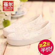 Light canvas shoes spring/summer 2015 Korean leisure shoes flat shoes for low post