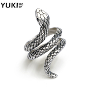 YUKI original 925 Silver Rings vintage jewelry snake ring girl man personality boomers nightclub opening section accessories