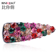 Sparkling hair accessories fashion Austria Crystal pierced BB pin drill edge hair clip bangs Chuck full of fashion jewelry
